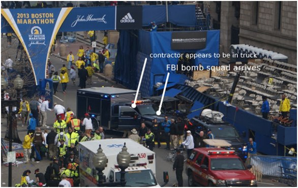 FBI bomb truck at 2013 Boston Marathon