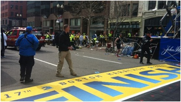 bomb scene 2013 Boston Marathon