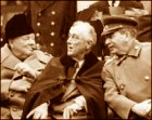 Jewish traitors Churchill, Roosevelt, Stalin