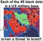Iran surrounded by peaceful, democratic US military bases