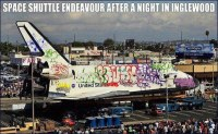 Space Shuttle with graffiti