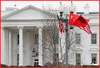 Chinese Flag on South Lawn White House 2009
